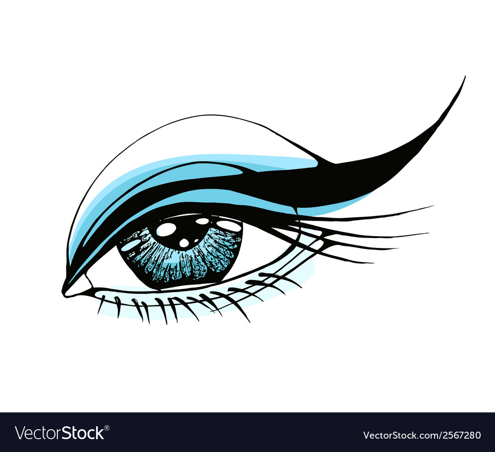 Beautiful woman eye vector | Price: 1 Credit (USD $1)