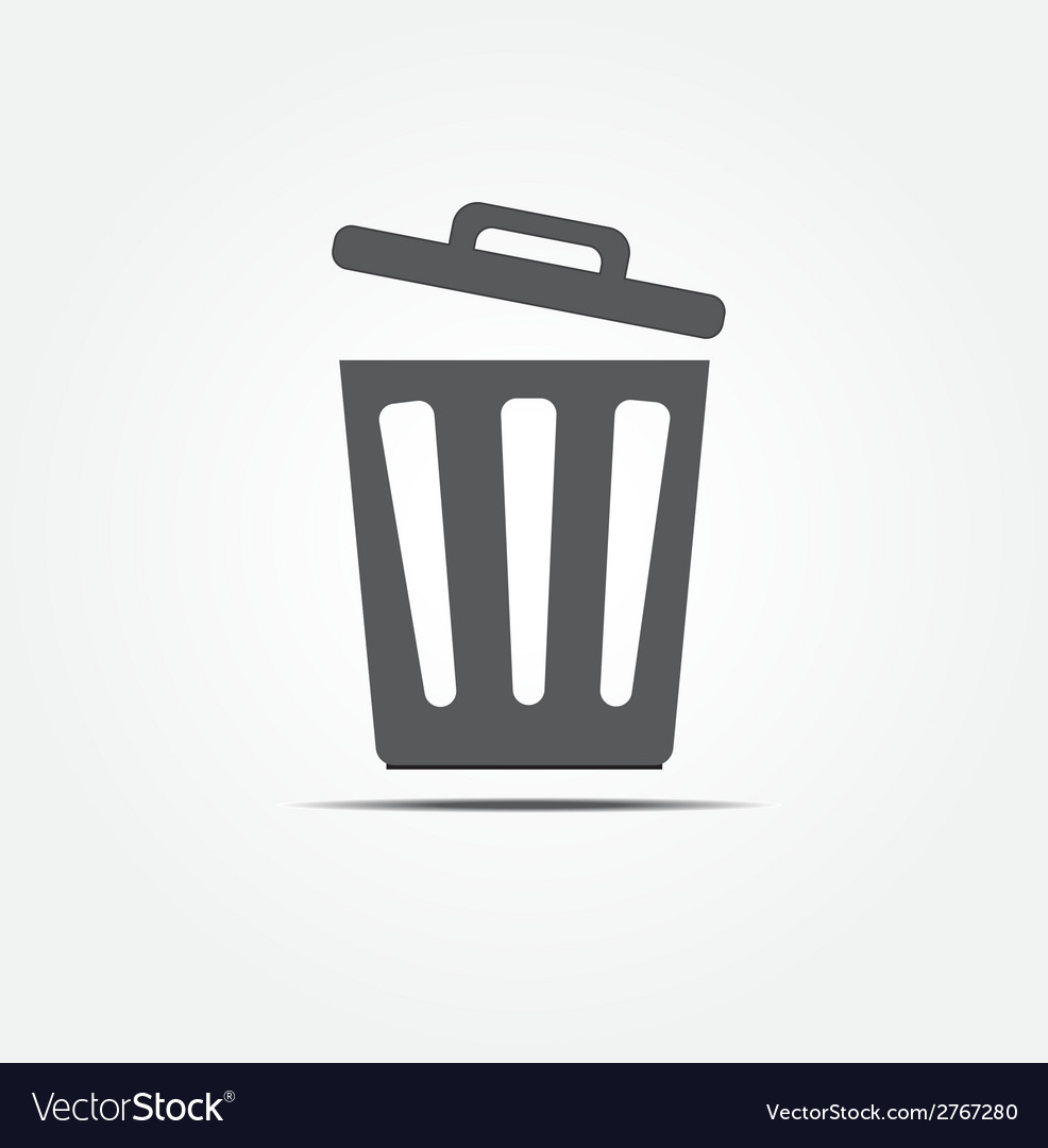 Bin icon vector | Price: 1 Credit (USD $1)