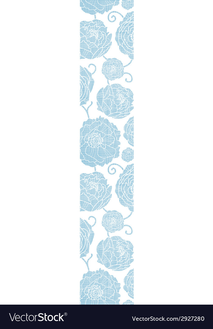 Blue textile peony flowers vertical border vector   Price: 1 Credit (USD $1)