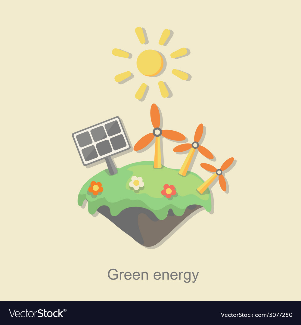 Flat design concept with icons of ecology vector | Price: 1 Credit (USD $1)