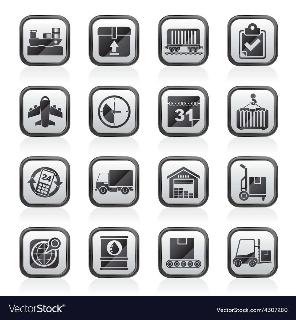 Logistic and shipping icons vector | Price: 1 Credit (USD $1)