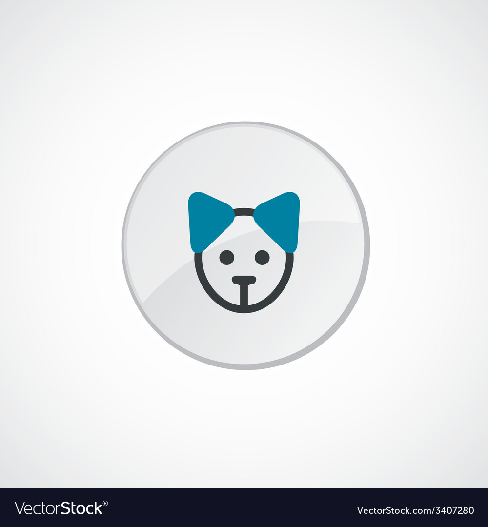 Puppy icon 2 colored vector | Price: 1 Credit (USD $1)