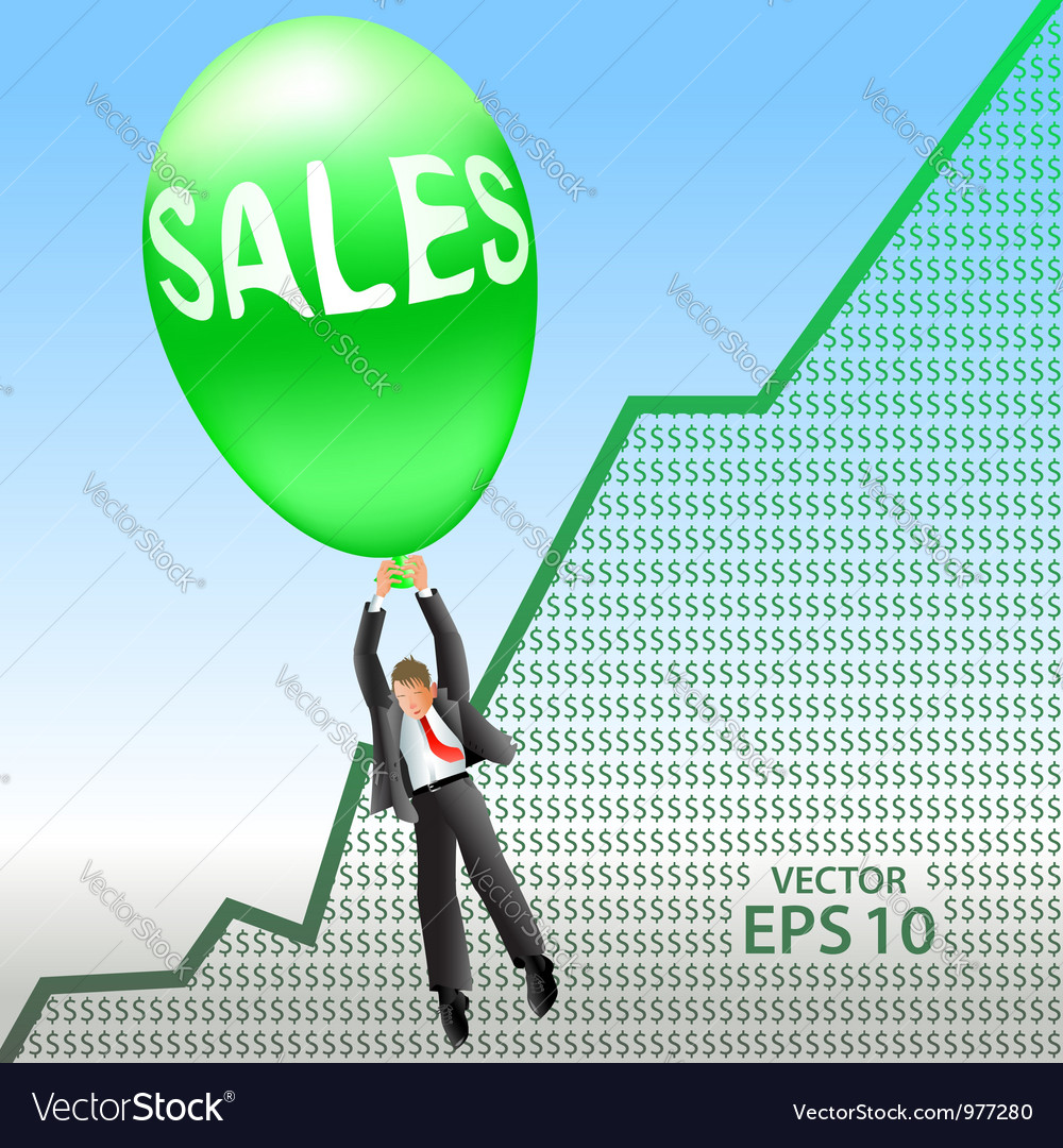 Sales success vector | Price:  Credit (USD $)