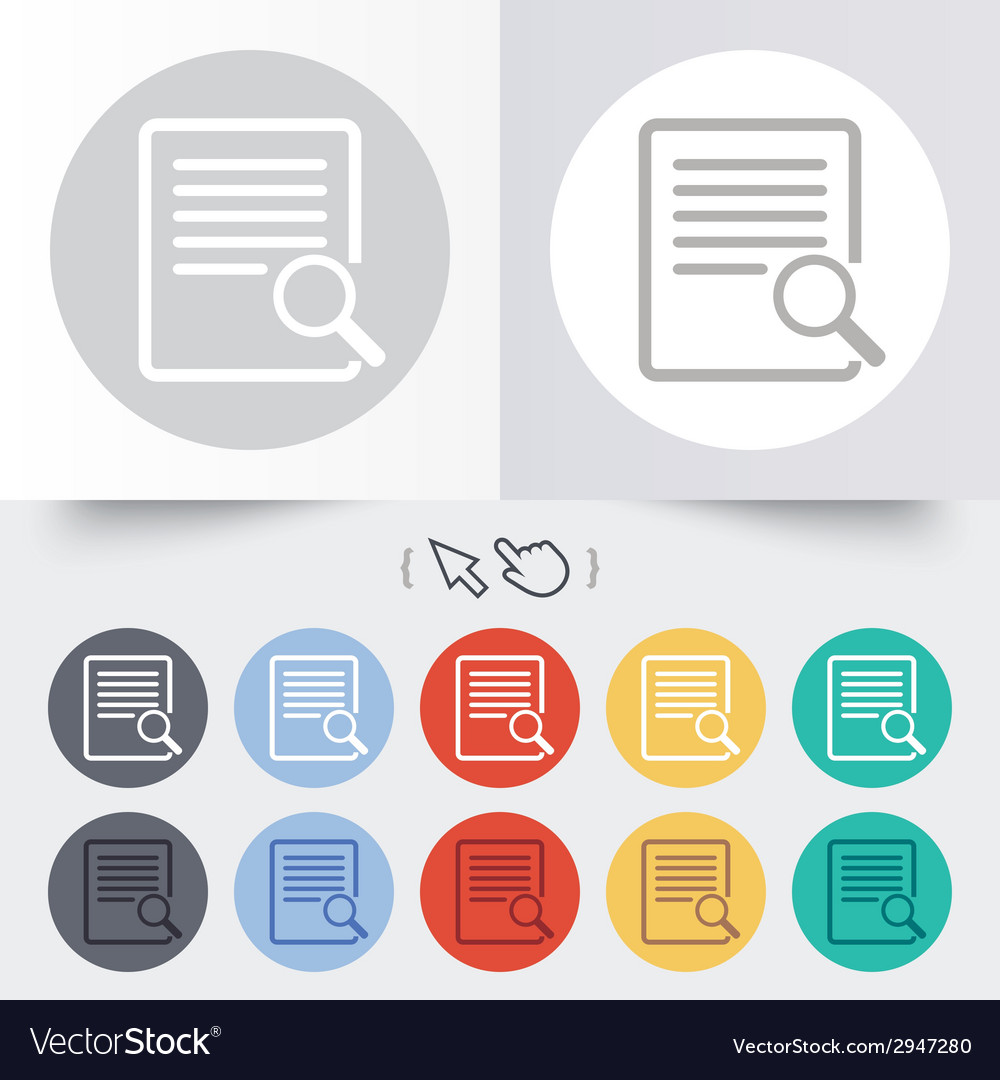 Search in file sign icon find in document vector | Price: 1 Credit (USD $1)