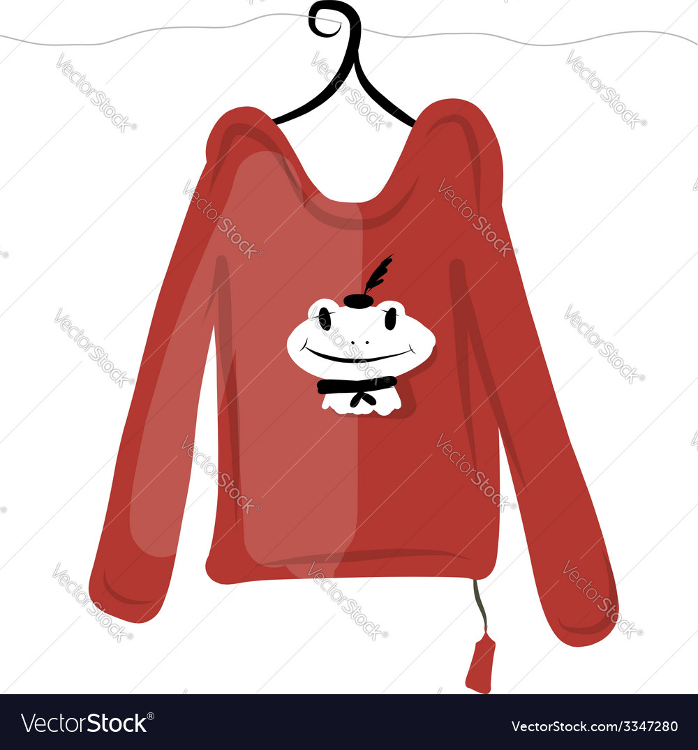 Top on hangers with funny frog design vector | Price: 1 Credit (USD $1)