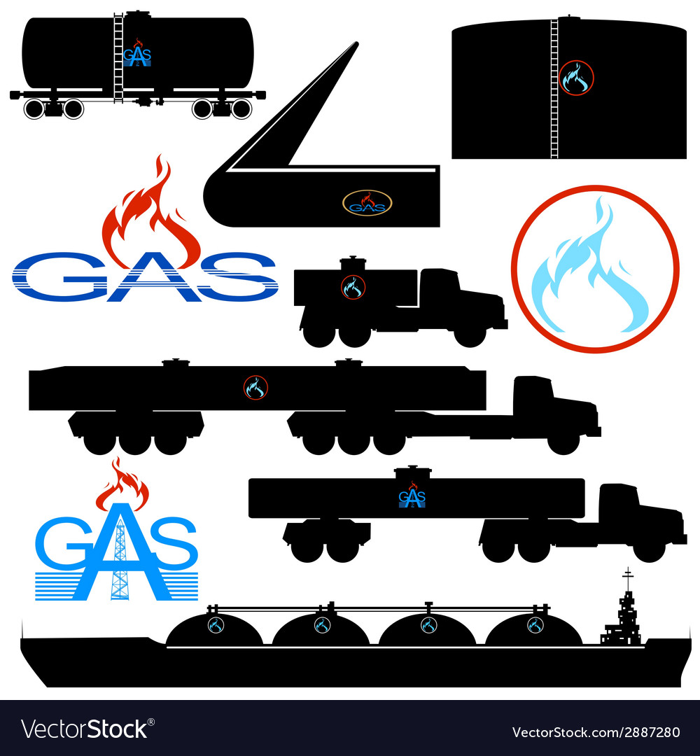 Transportation and storage of natural gas vector | Price: 1 Credit (USD $1)