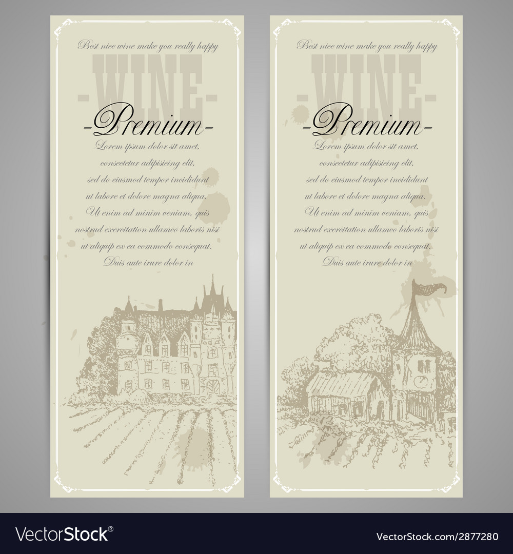 Wine menu design vector | Price: 1 Credit (USD $1)