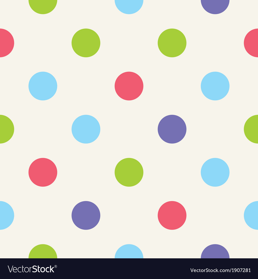 Blue pink green polka dots seamless background vector   Price: 1 Credit (USD $1)