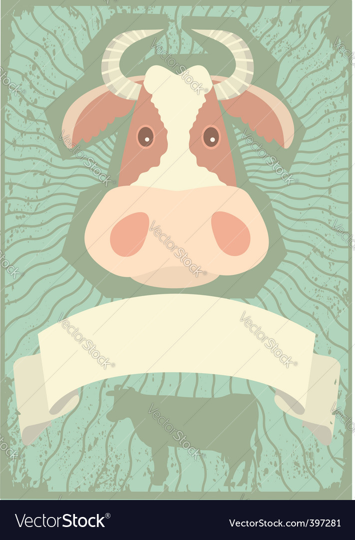 Cow grunge vector | Price: 1 Credit (USD $1)