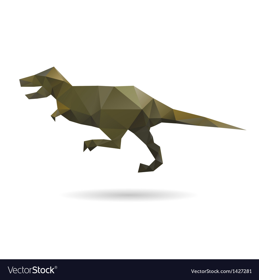 Dinosaur abstract isolated on a white backgrounds vector | Price: 1 Credit (USD $1)