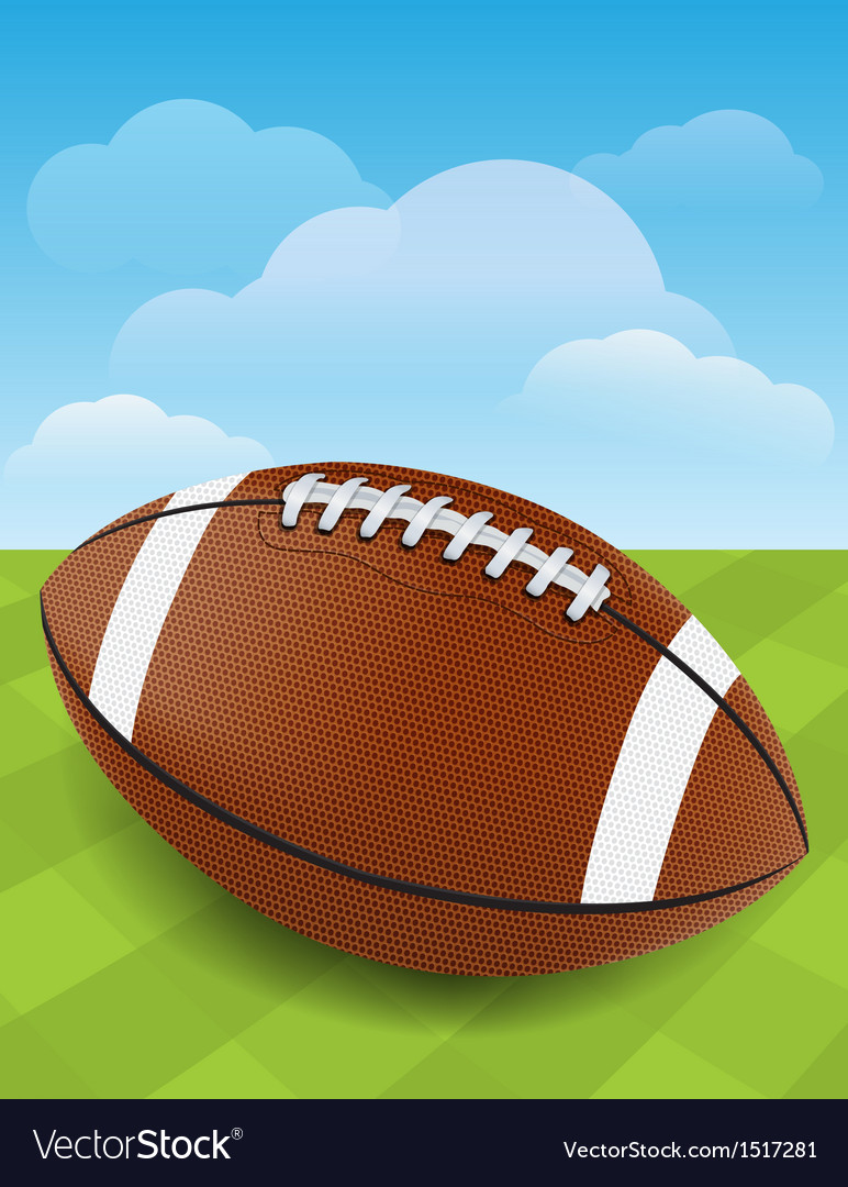 Football on green field vector | Price: 1 Credit (USD $1)