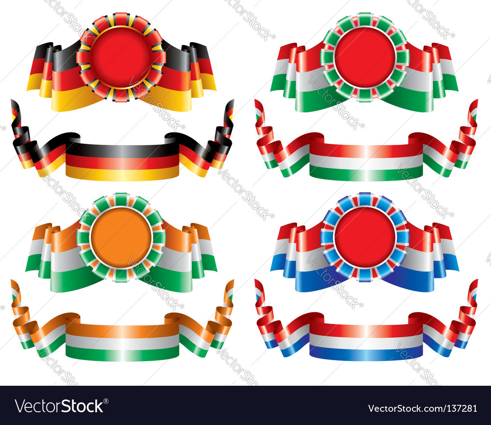 Seals and ribbons vector | Price: 1 Credit (USD $1)