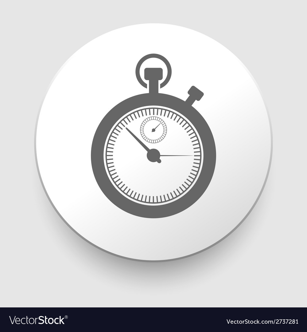 Stopwatch web black icon isolated vector | Price: 1 Credit (USD $1)