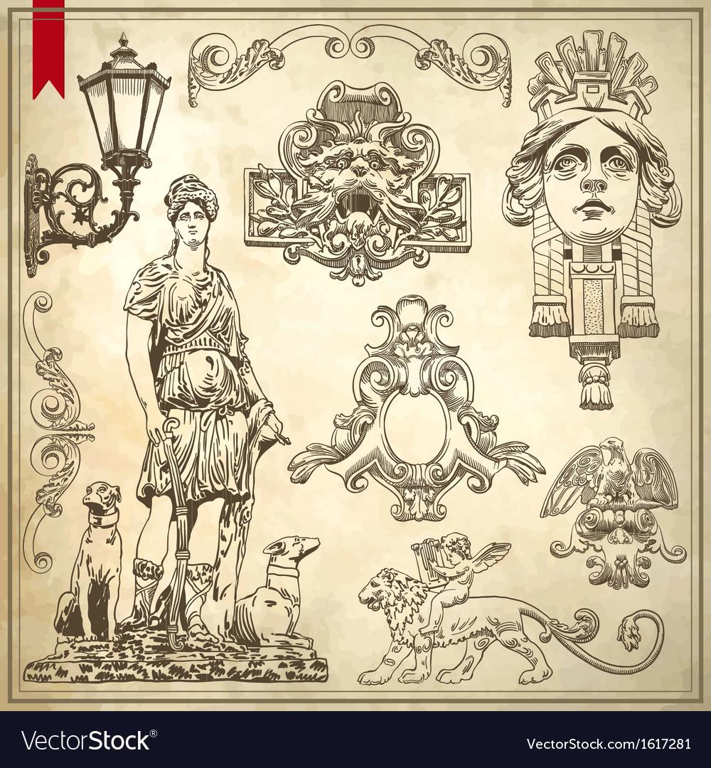 Vintage sketch ornamental design element vector   Price: 1 Credit (USD $1)