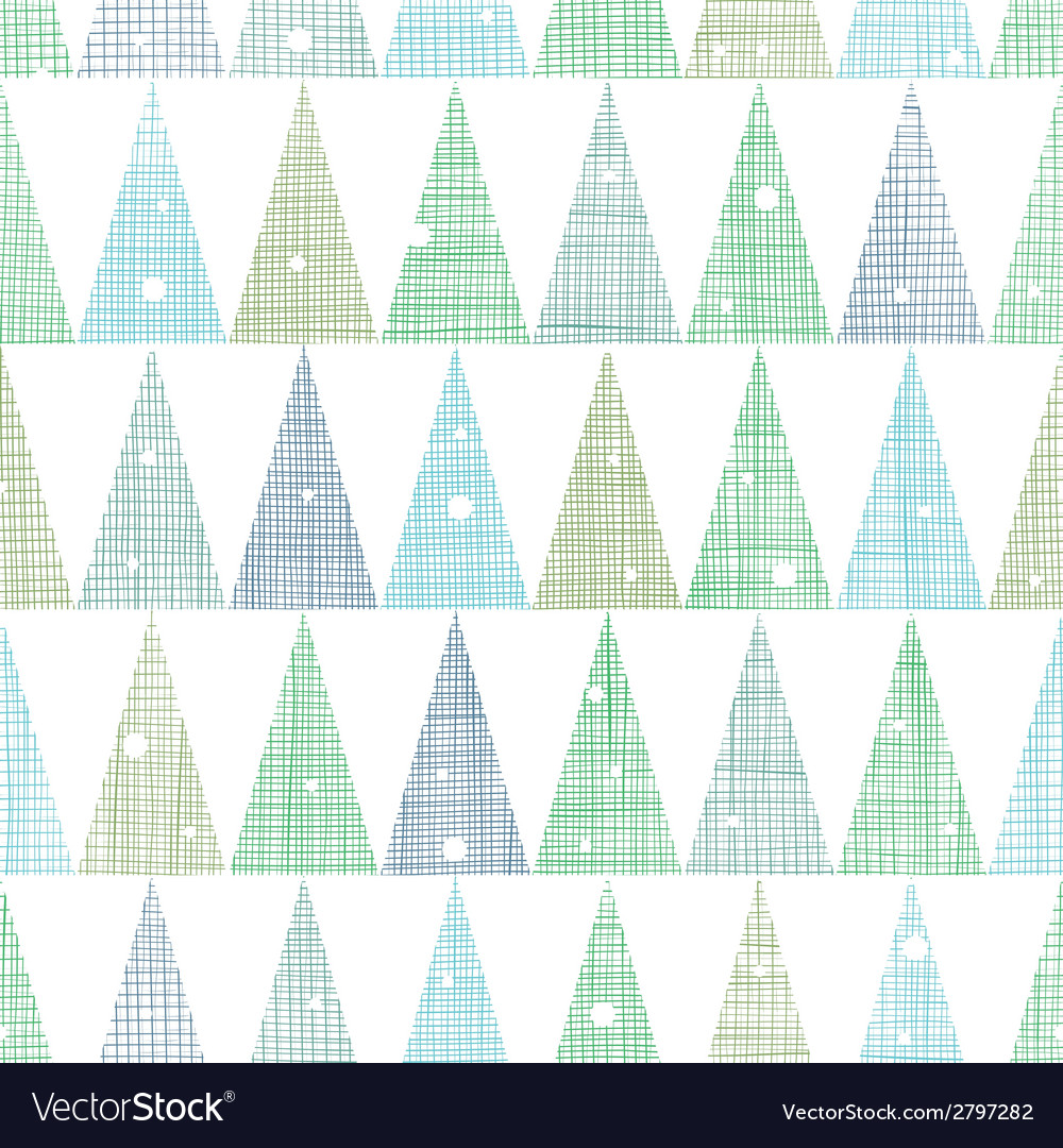 Abstract christmas trees forest in snow seamless vector | Price: 1 Credit (USD $1)