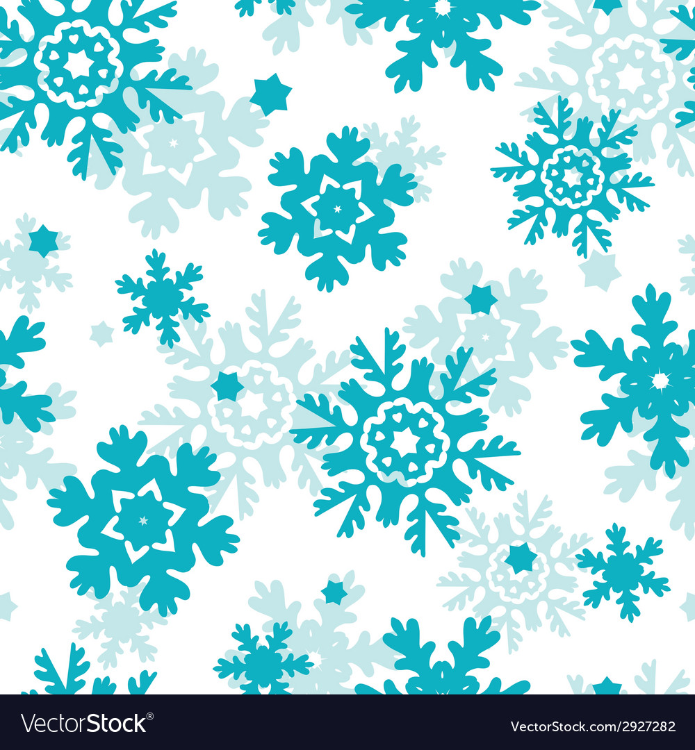 Blue frost snowflakes seamless pattern background vector | Price: 1 Credit (USD $1)
