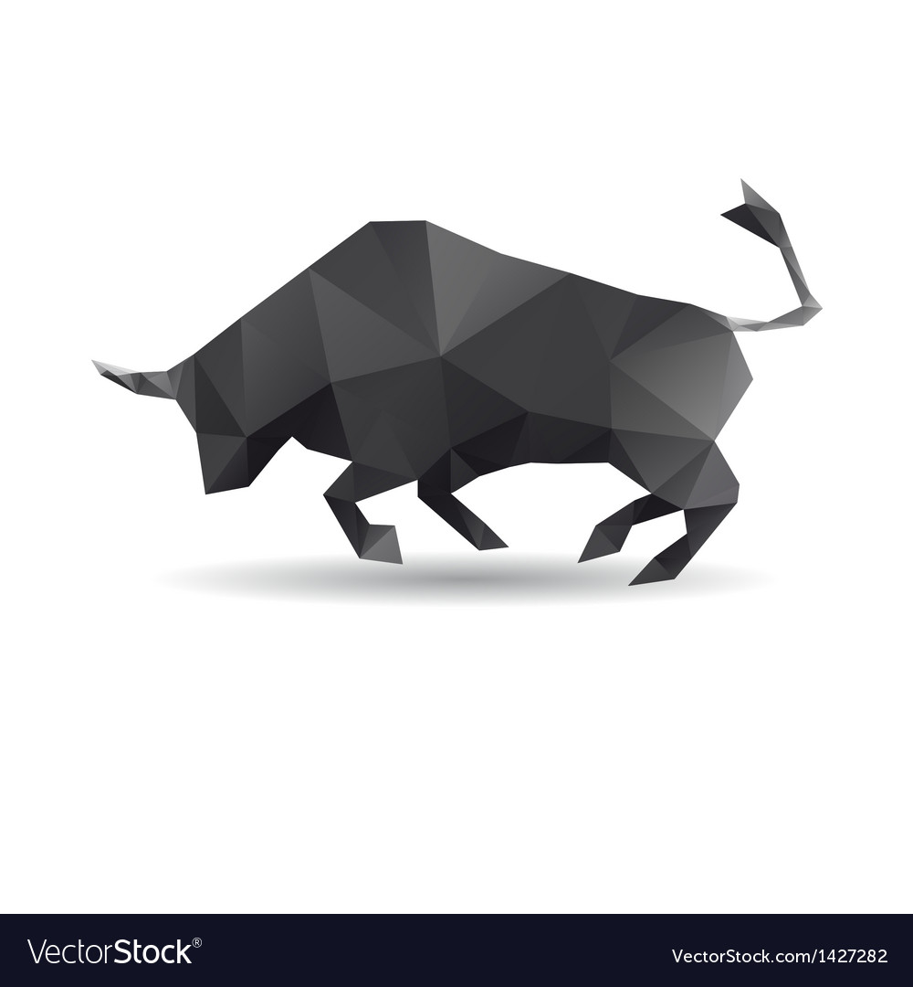 Bull abstract isolated on a white backgrounds vector | Price: 1 Credit (USD $1)
