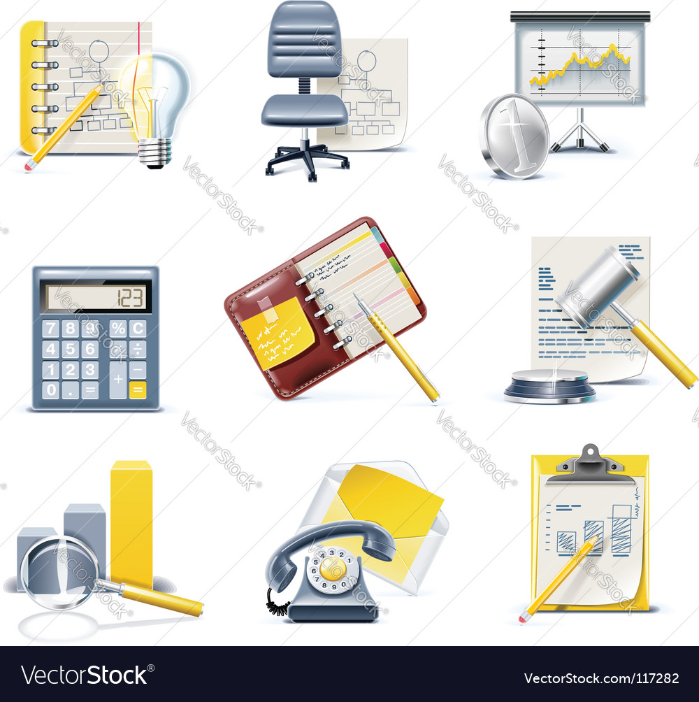 Business and office icons vector | Price: 5 Credit (USD $5)