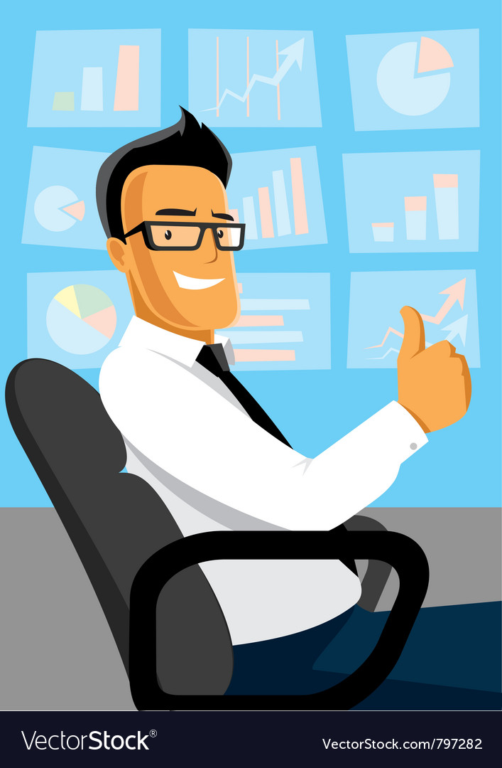 Businessman at work vector | Price: 3 Credit (USD $3)