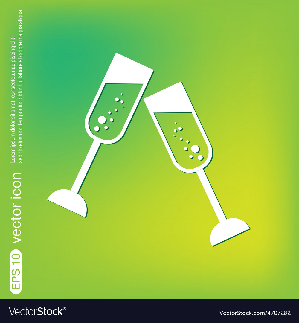 Champagne glass icon vector | Price: 1 Credit (USD $1)