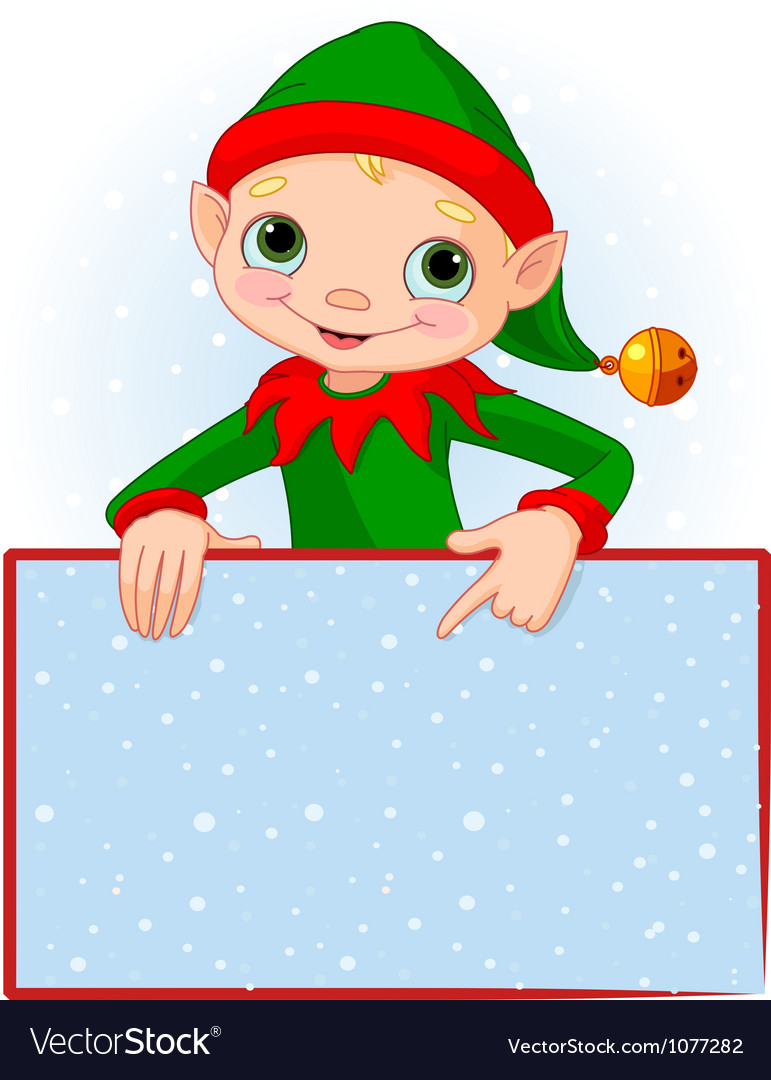 Christmas elf place card vector | Price: 1 Credit (USD $1)