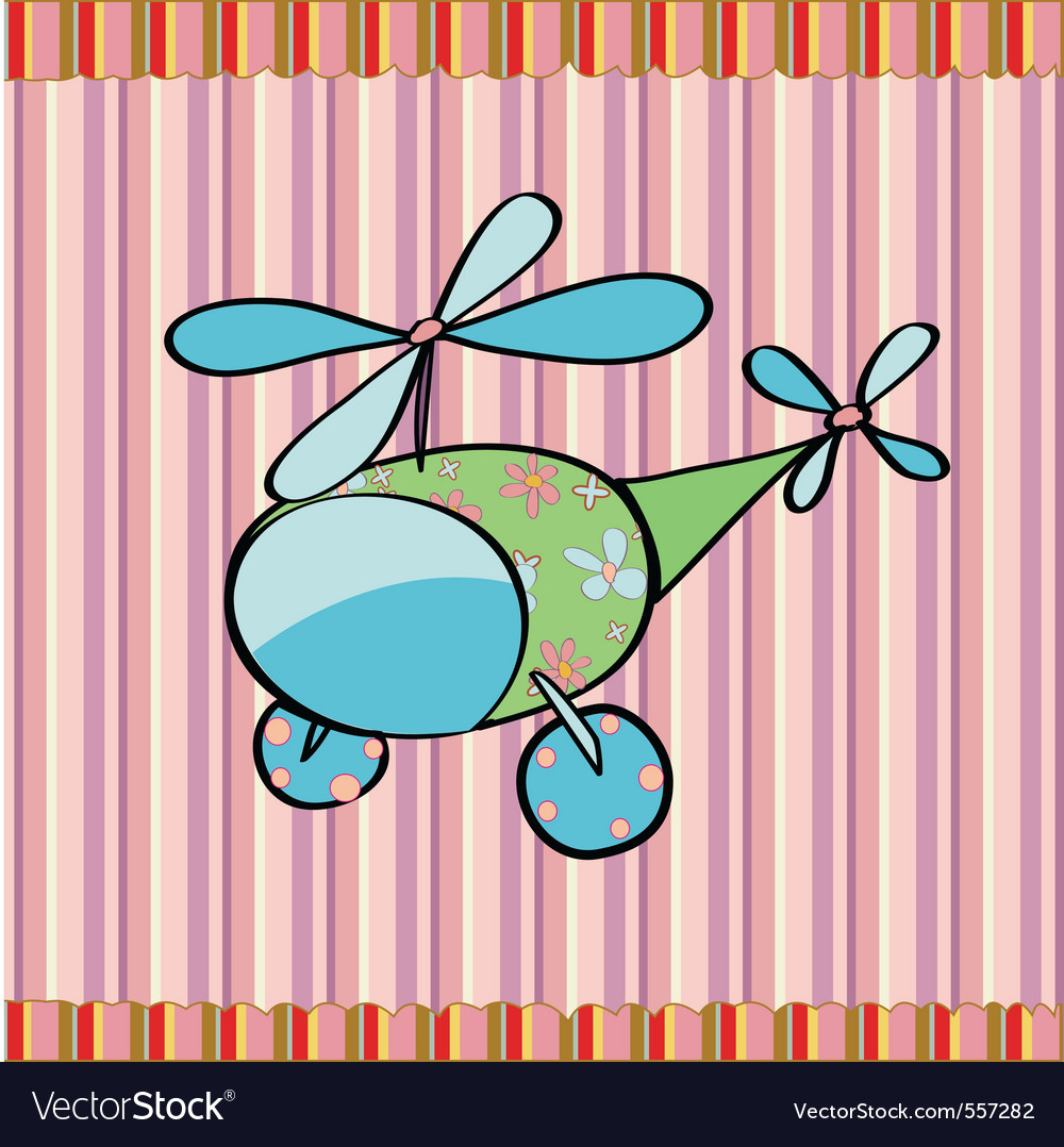 Cute little helicopter vector | Price: 1 Credit (USD $1)