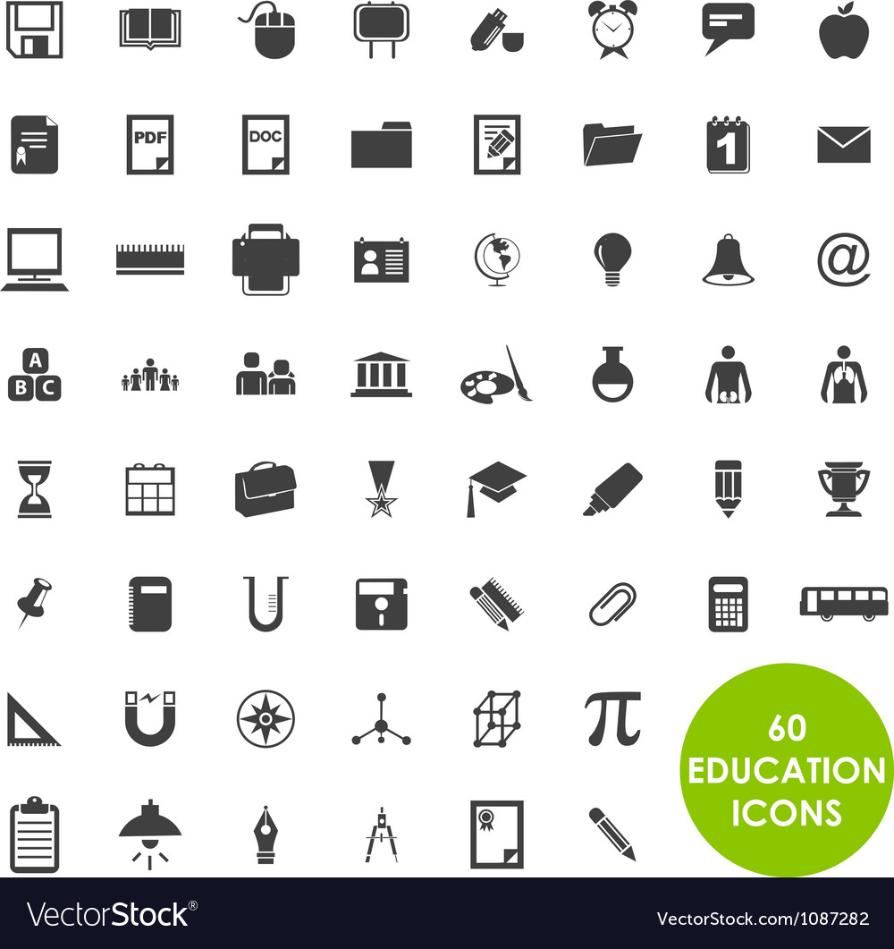 Education icons basics vector   Price: 1 Credit (USD $1)