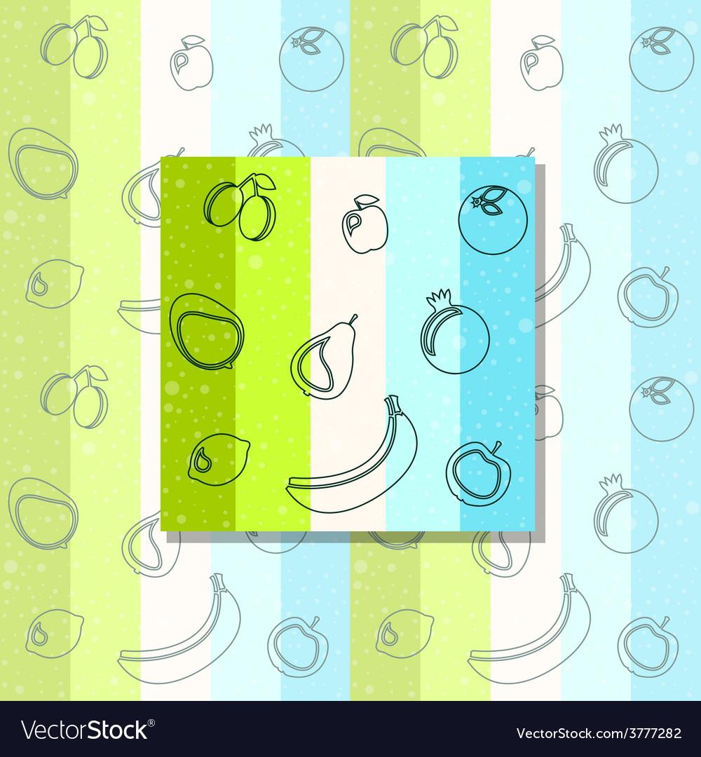 Fruit pattern vector | Price: 1 Credit (USD $1)