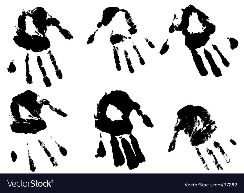 Inky hands vector | Price: 1 Credit (USD $1)