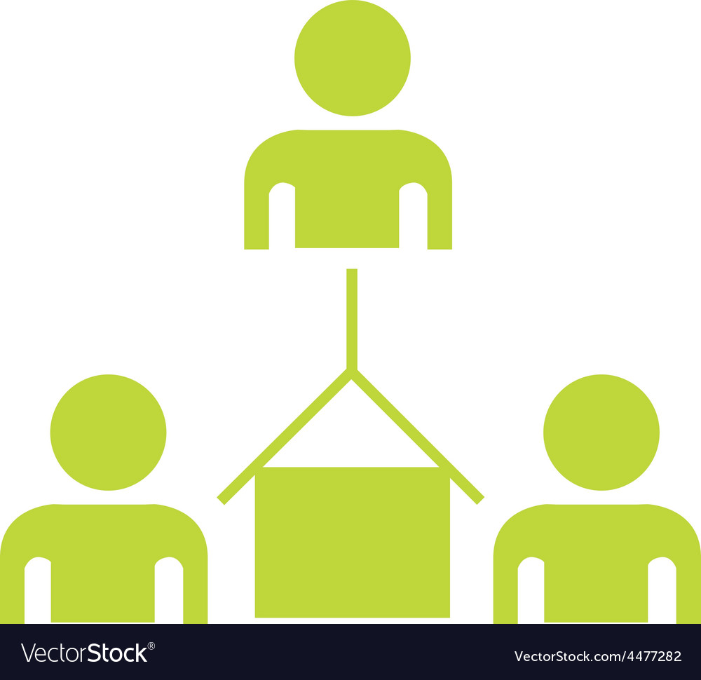People connect vector | Price: 1 Credit (USD $1)