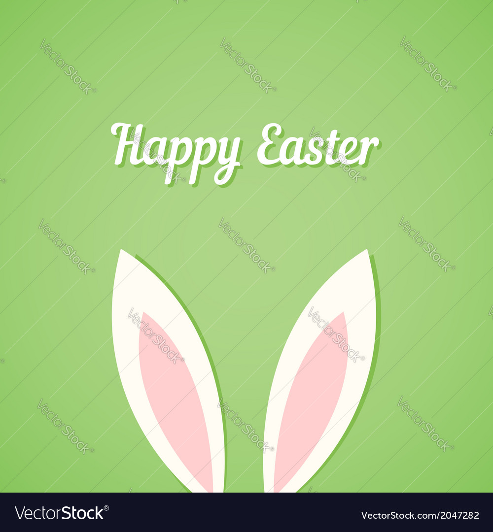 Rabbit ears easter card vector | Price: 1 Credit (USD $1)
