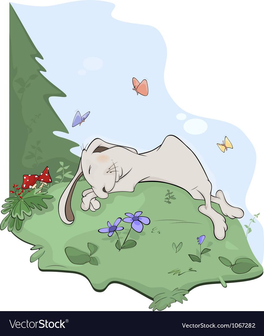 Rabbit in wood vector | Price: 1 Credit (USD $1)