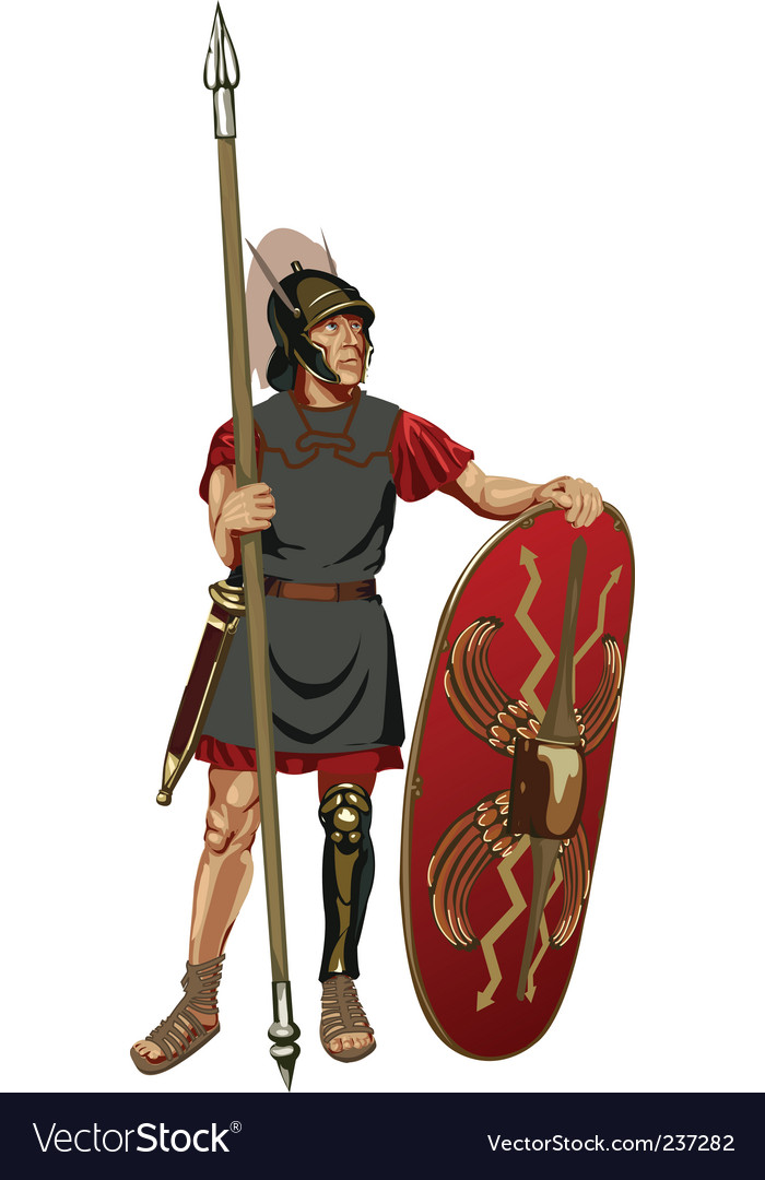 Roman soldier vector | Price: 1 Credit (USD $1)