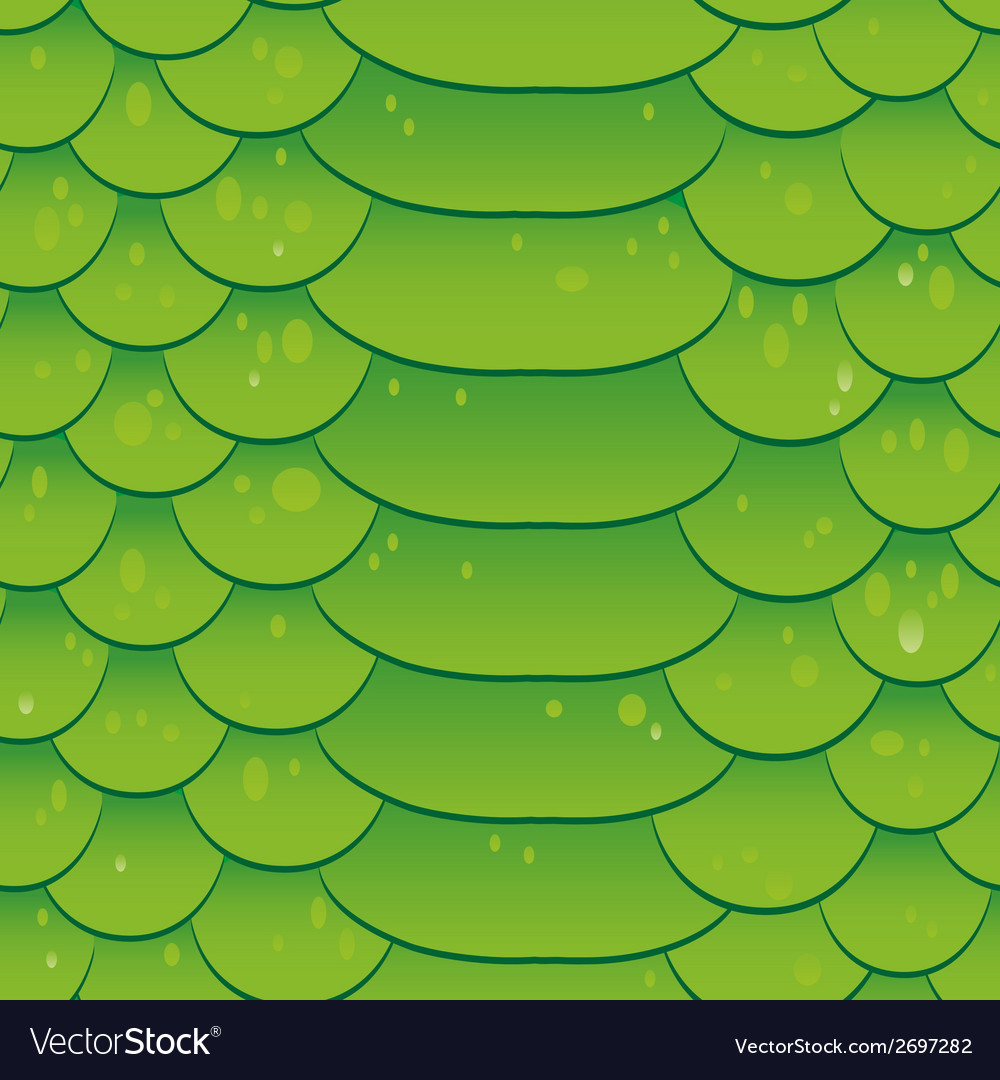 Snake skin texture seamless pattern green vector | Price: 1 Credit (USD $1)