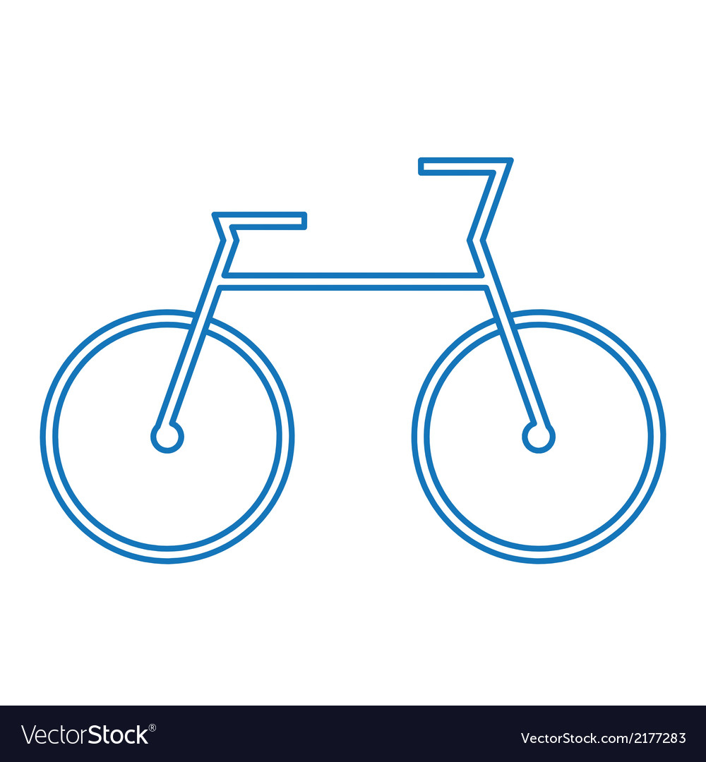 Blue bicycle symbol vector | Price: 1 Credit (USD $1)