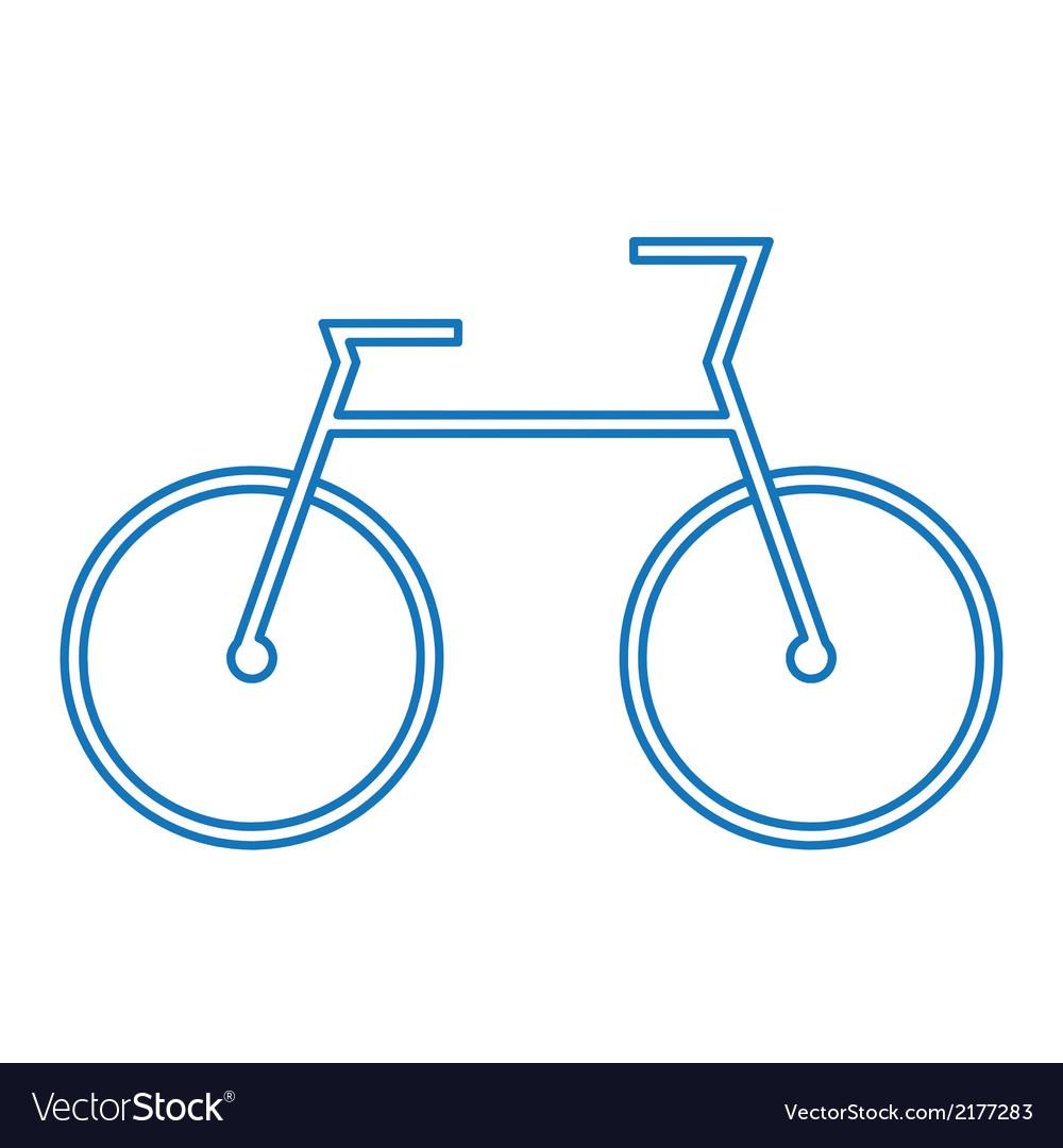 Blue bicycle symbol vector | Price: 1 Credit (USD $1)