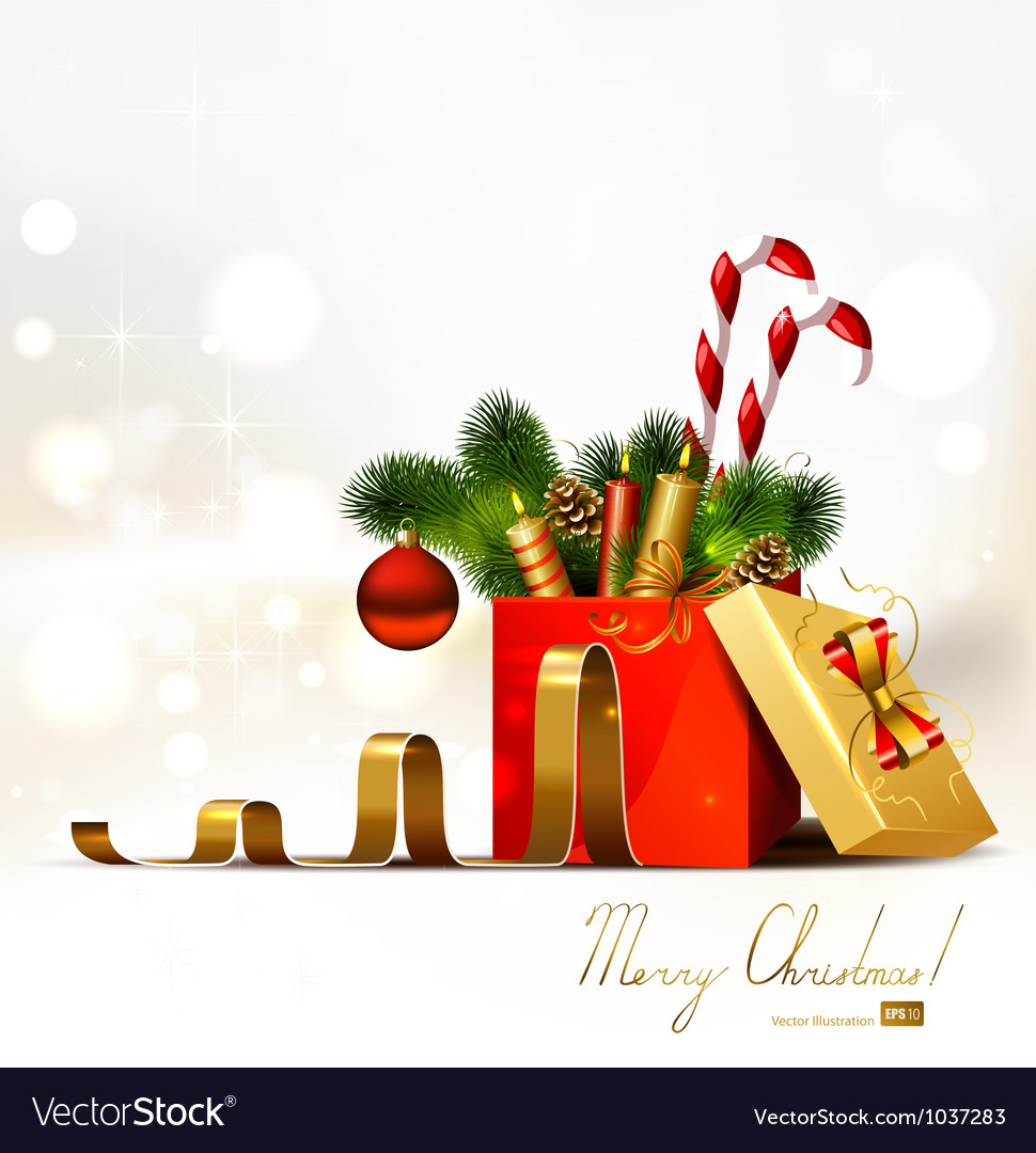 Christmas gift vector | Price: 3 Credit (USD $3)