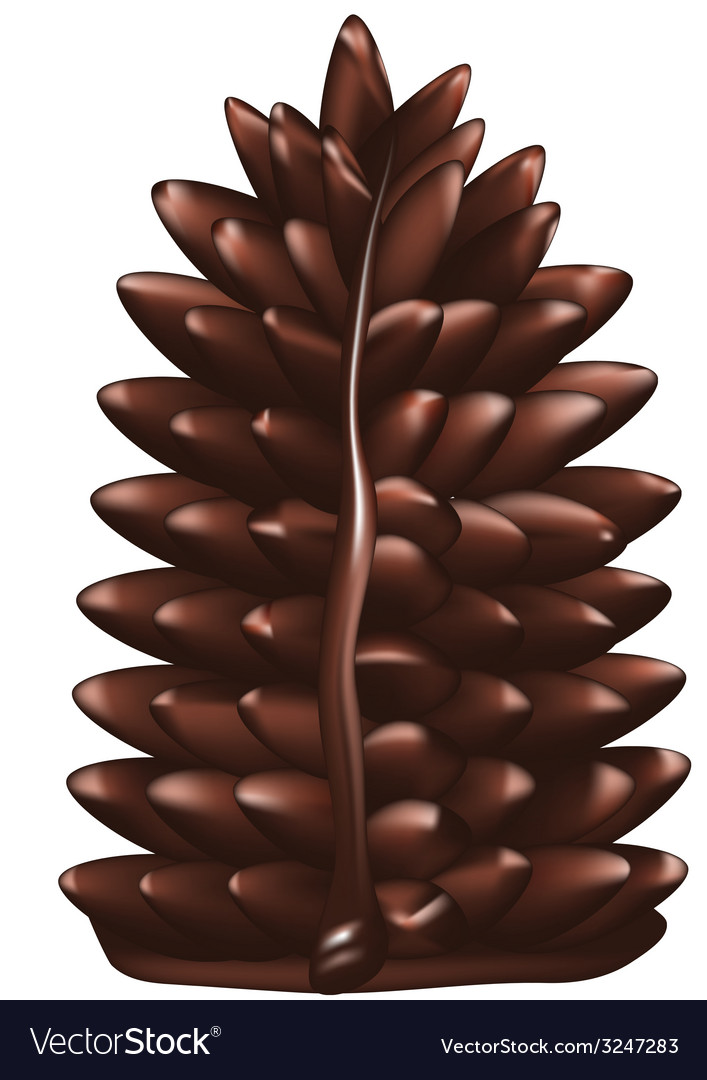 Christmas tree made of chocolate vector | Price: 1 Credit (USD $1)