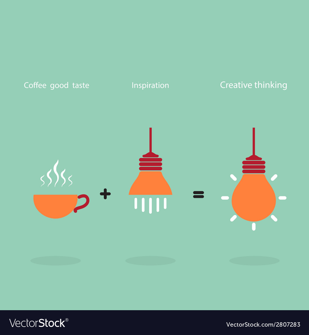 Process of creative thinking vector | Price: 1 Credit (USD $1)