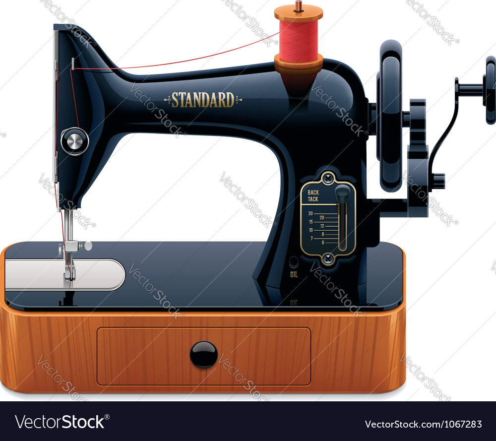 Retro sewing machine vector | Price: 3 Credit (USD $3)