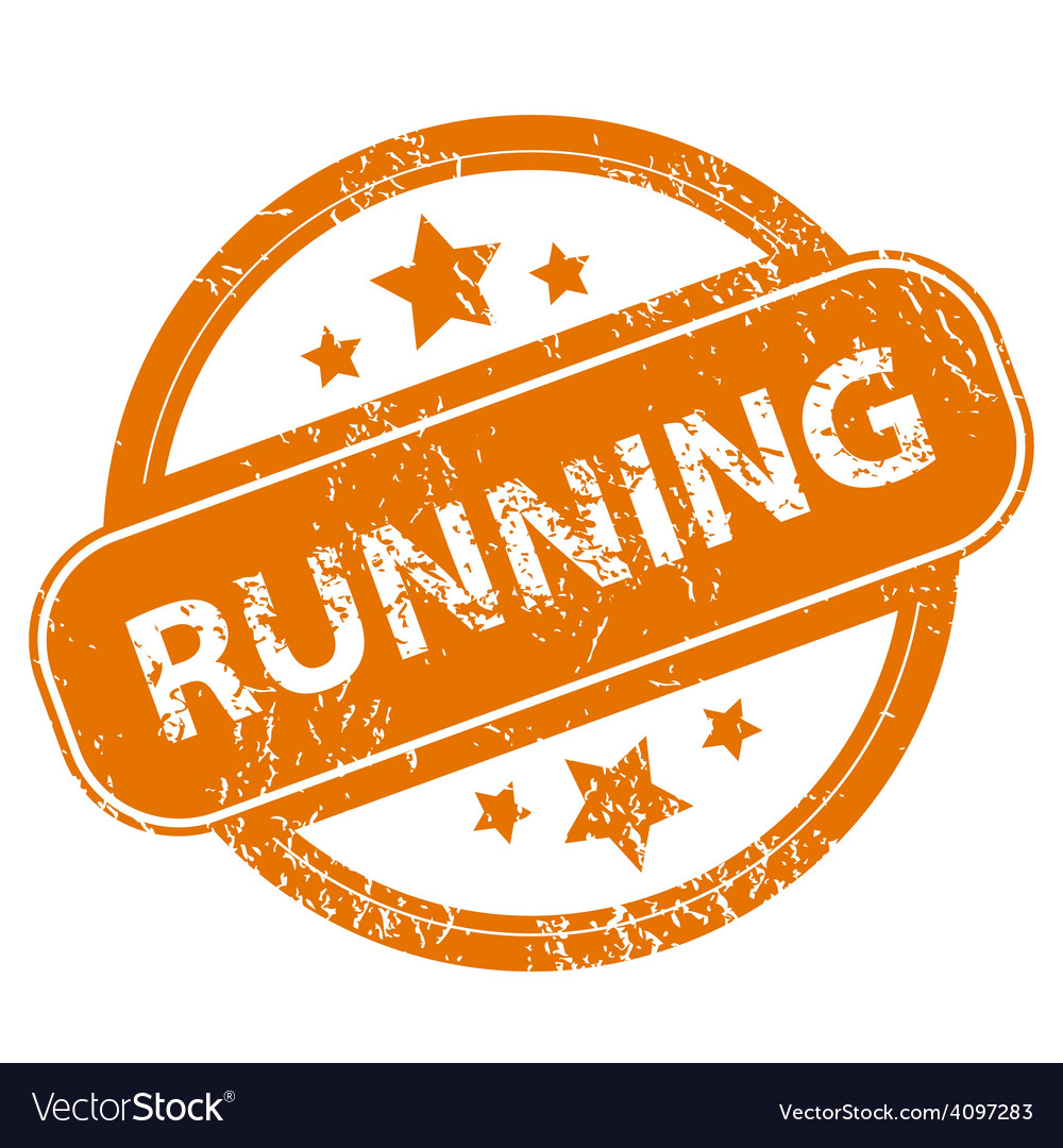 Running grunge icon vector | Price: 1 Credit (USD $1)
