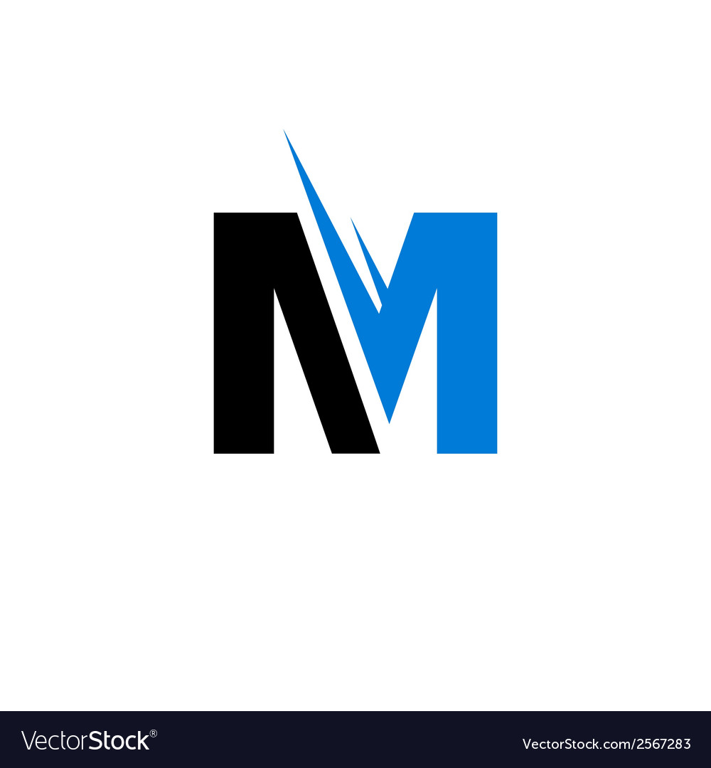 Sign of the letter m vector | Price: 1 Credit (USD $1)