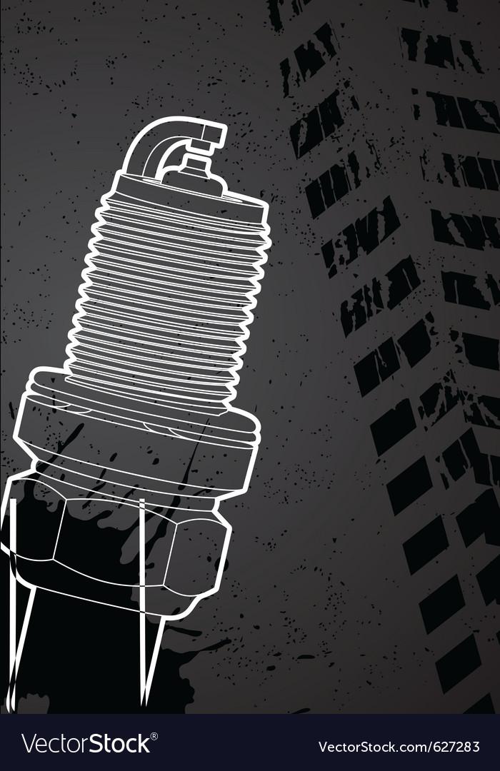Spark-plug vector | Price: 1 Credit (USD $1)