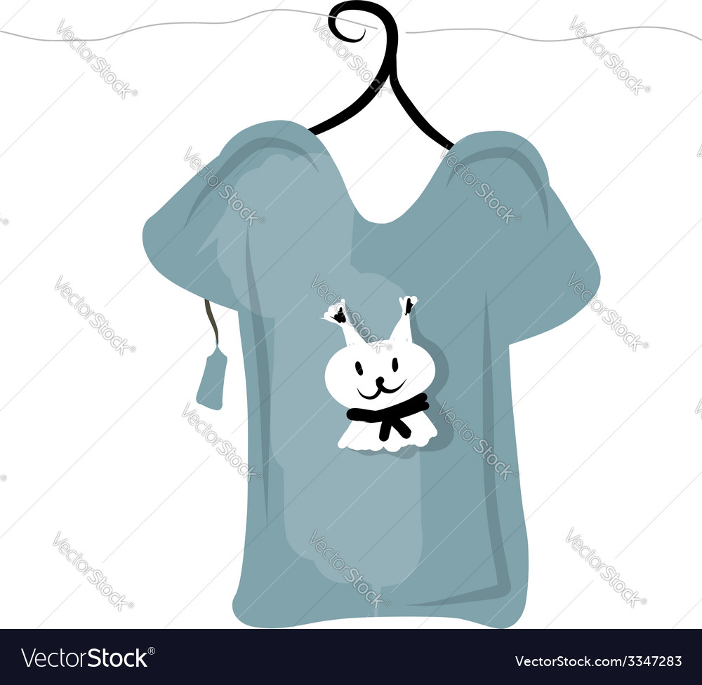 Top on hangers with funny squirrel design vector | Price: 1 Credit (USD $1)
