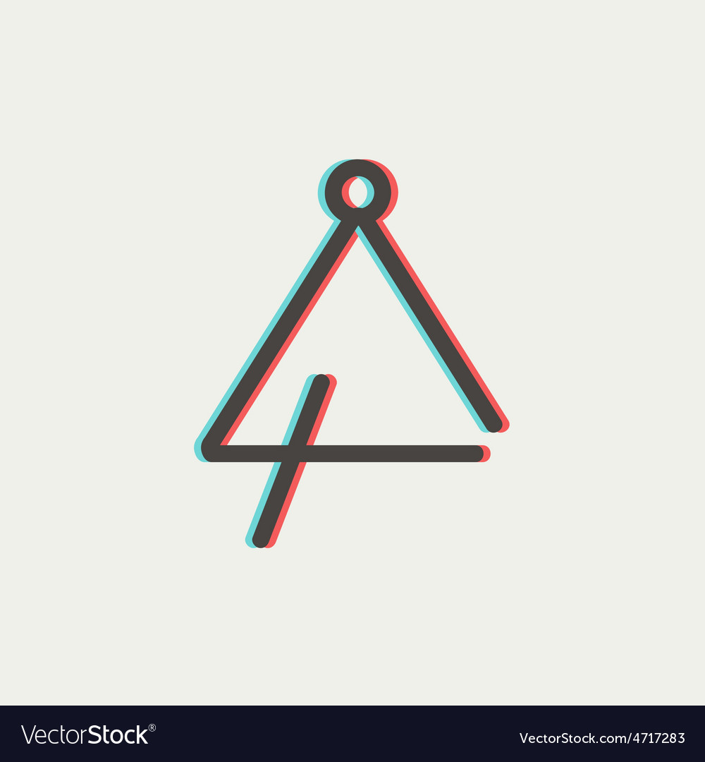 Triangle thin line icon vector | Price: 1 Credit (USD $1)