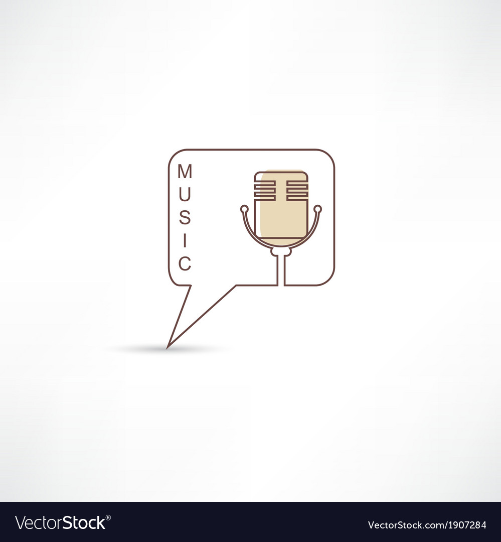 Brown microphone icon vector | Price: 1 Credit (USD $1)
