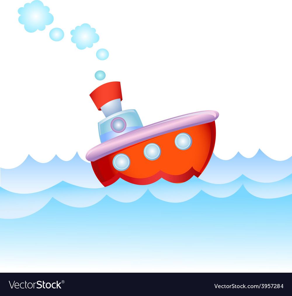 Cartoon steamship vector | Price: 3 Credit (USD $3)