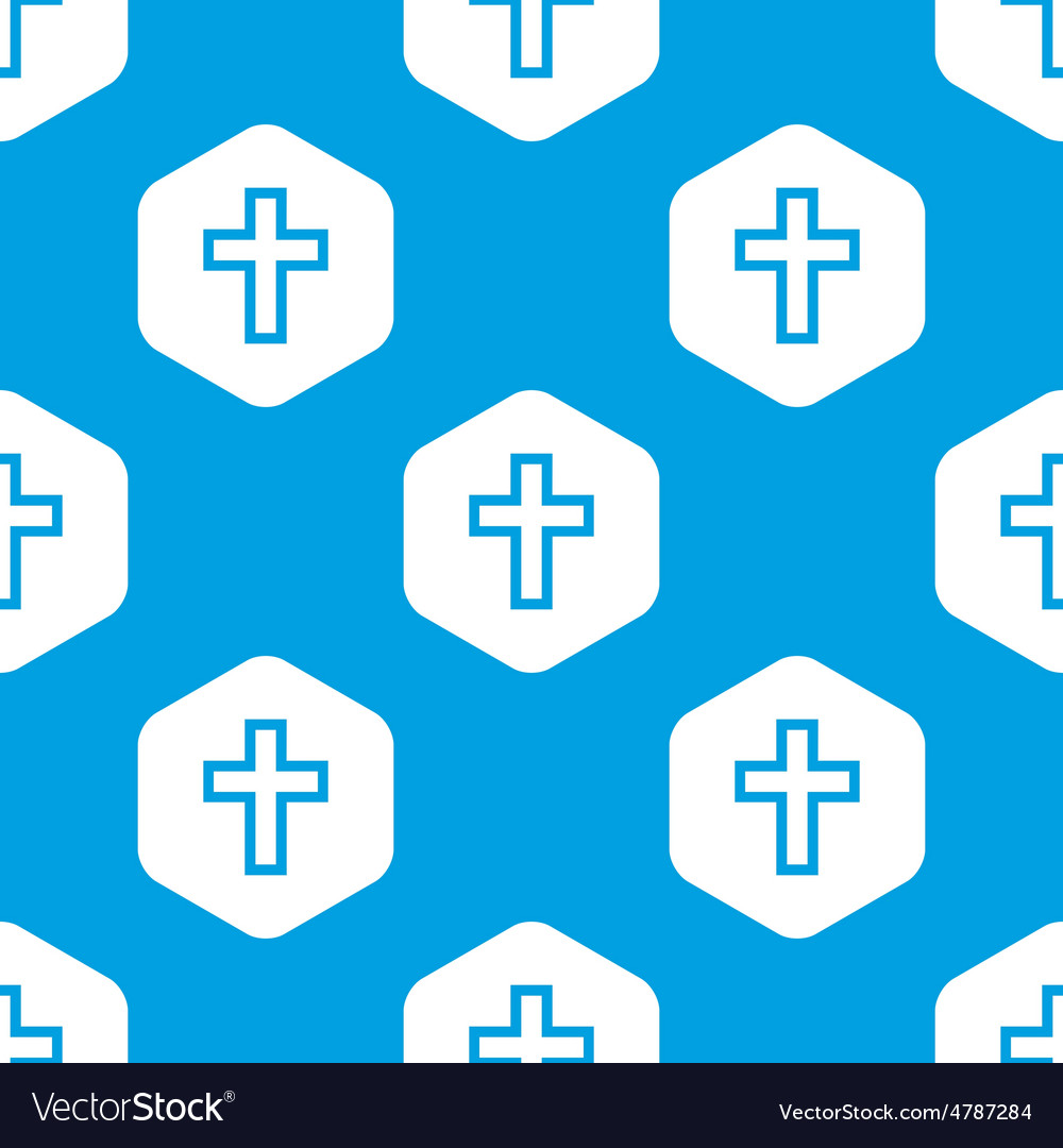 Christian cross hexagon pattern vector | Price: 1 Credit (USD $1)