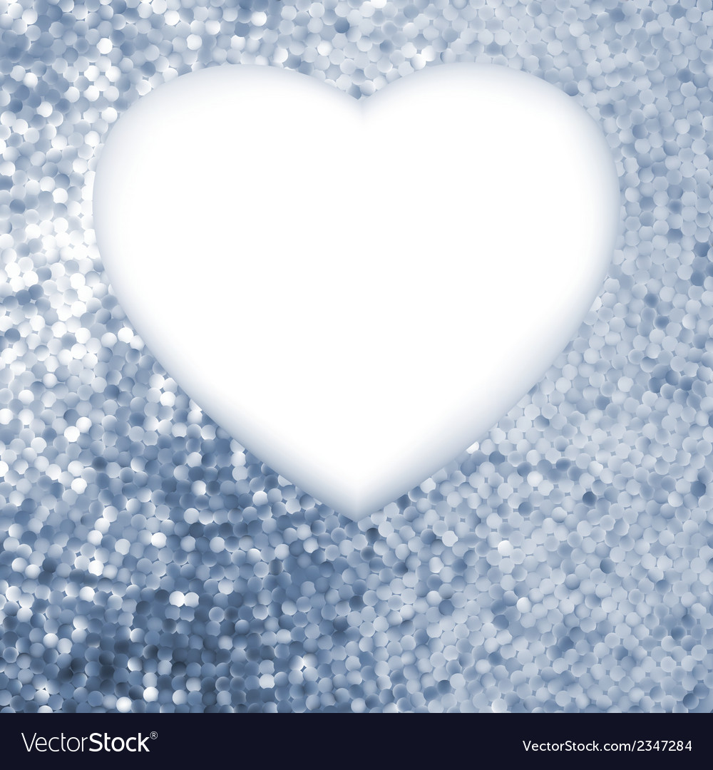 Elegant blue frame in the shape of heart eps 8 vector   Price: 1 Credit (USD $1)