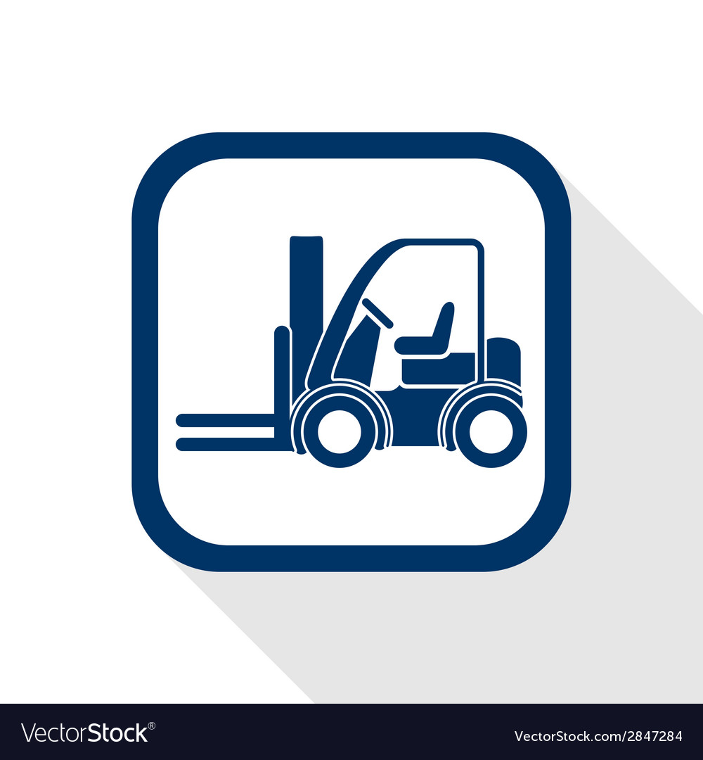 Forklift truck flat icon vector | Price: 1 Credit (USD $1)